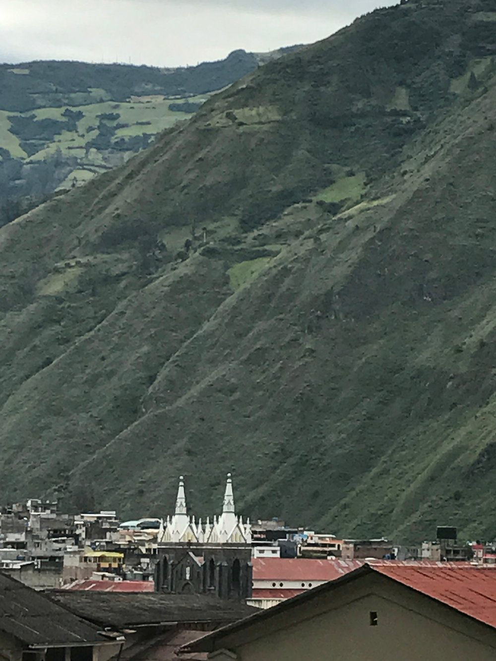 View of Baños from the hillside