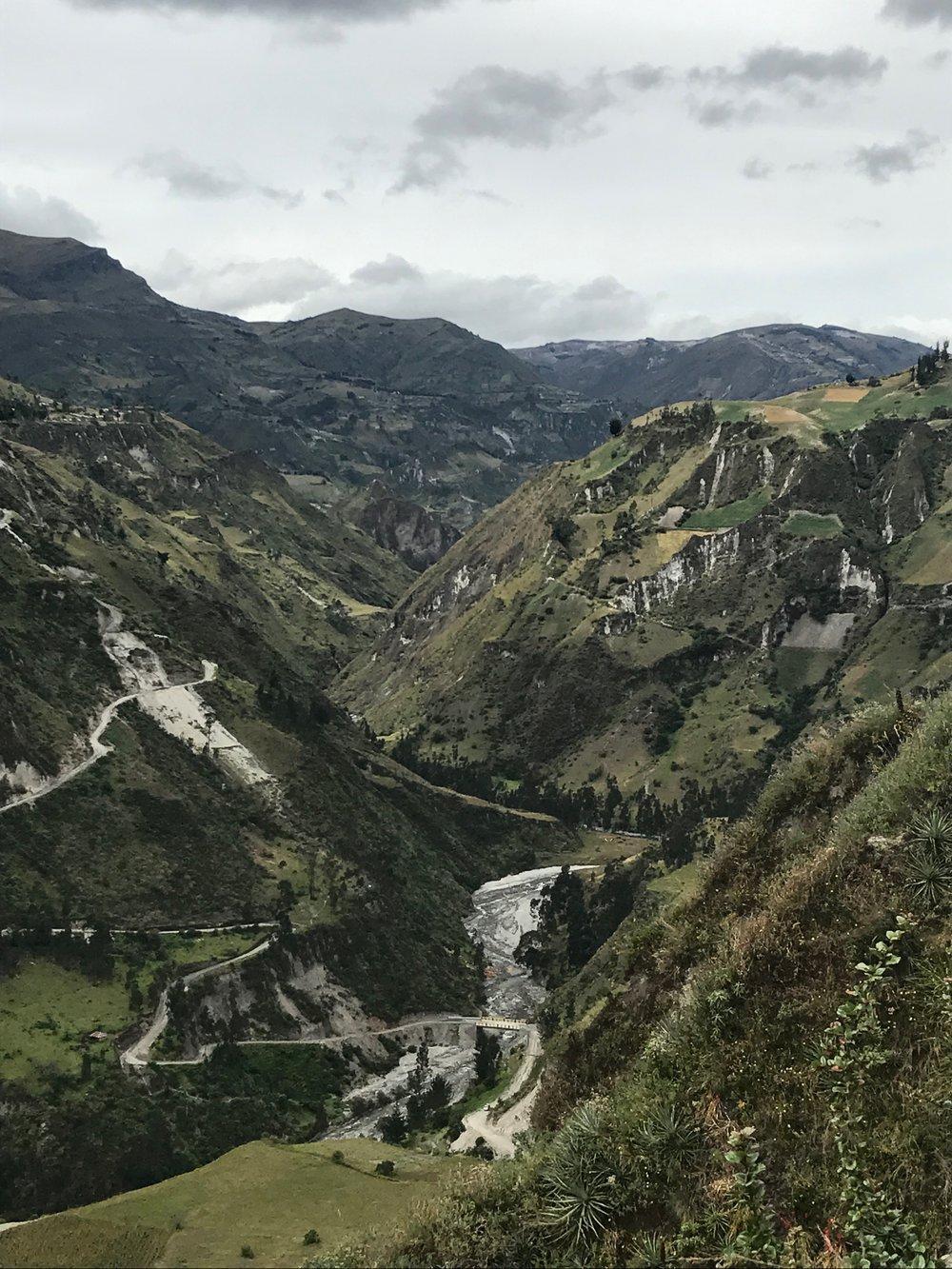 Vistas on the trek to Quilotoa