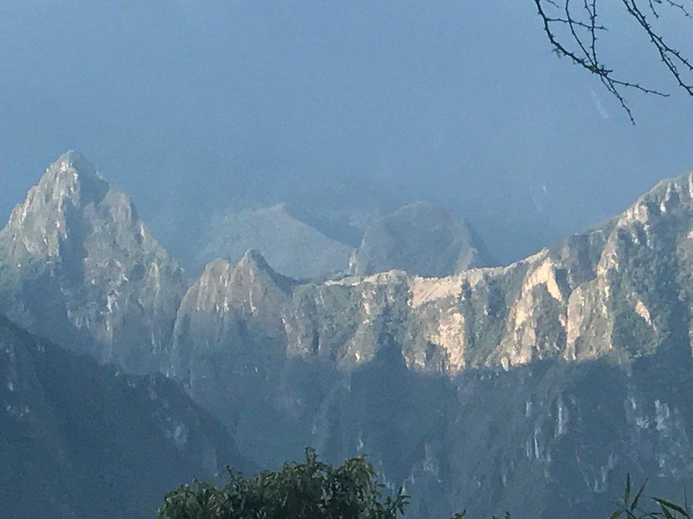 Machu Picchu across the valley
