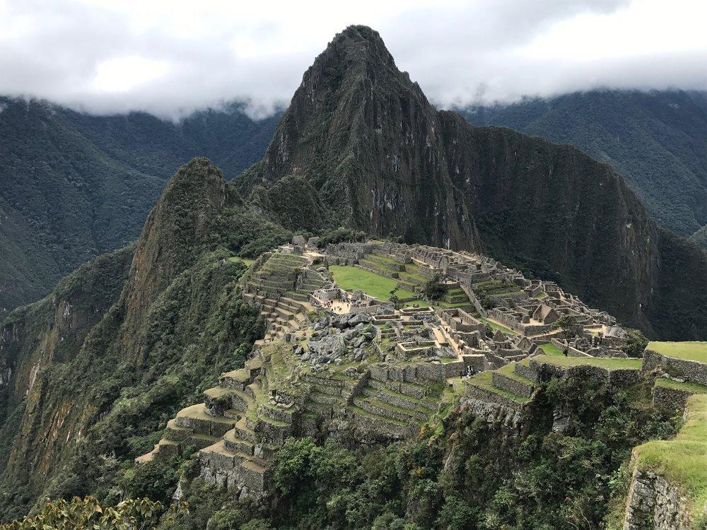 The fog lifts over Machu Picchu