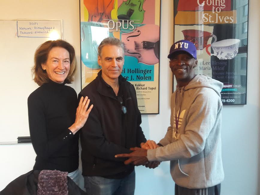 Terrance Coffie, President and founder of EDI with John Mudd and Sharon Jasprizza of Mid Town South Community Council.