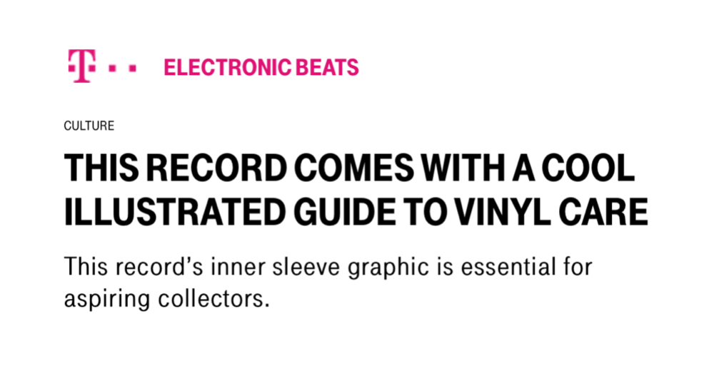 FLOAT'S VINYL CARE GUIDE FEATURED IN ELECTRONIC BEATS