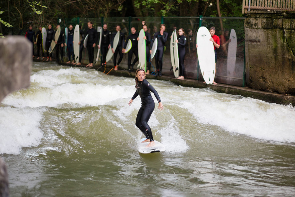 Surfer on Wave in Munich