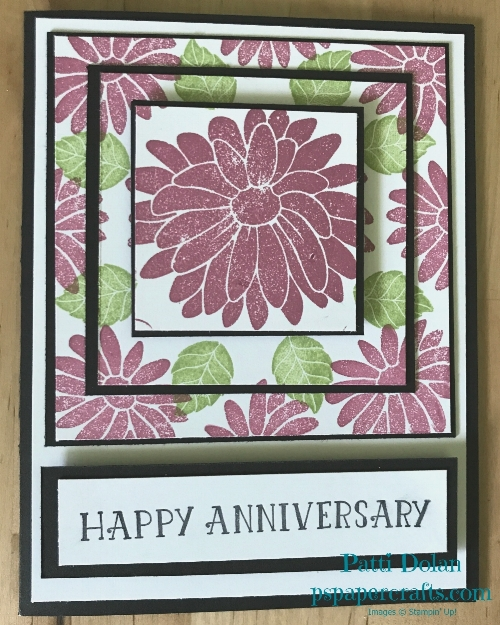 I used Sweet Sugarplum ink for the flowers on this card.