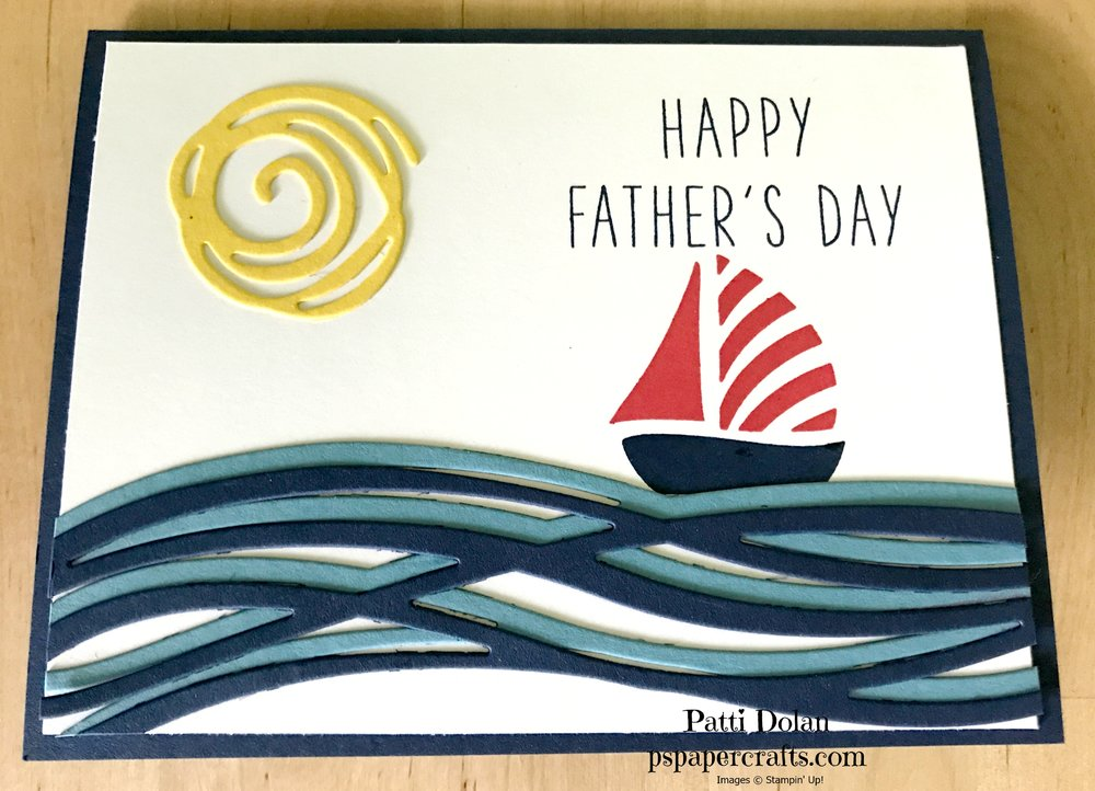 This card was made with a Night of Navy card base.