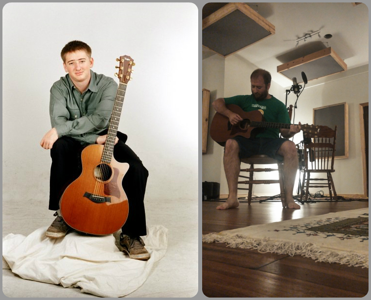 Left, Senior picture 2004. Right, MillSounds Studio 2017
