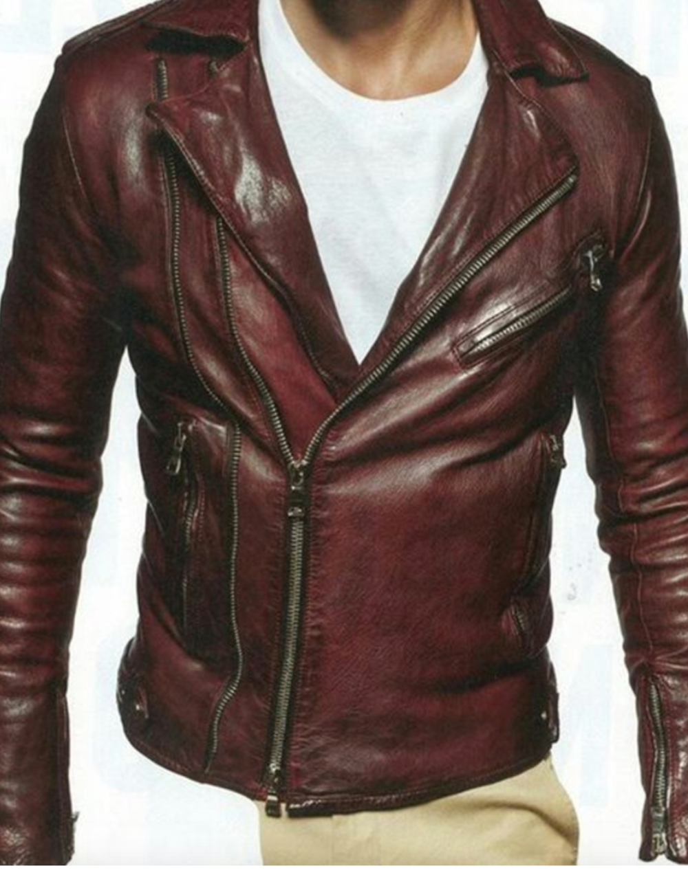 Balmain Biker Leather Jacket