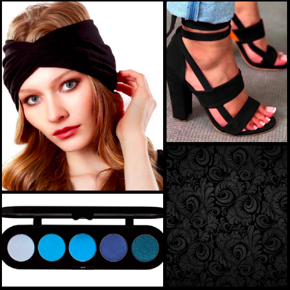 Headband:  $19 / Eyeshadow:  $35  / Heels:  $37