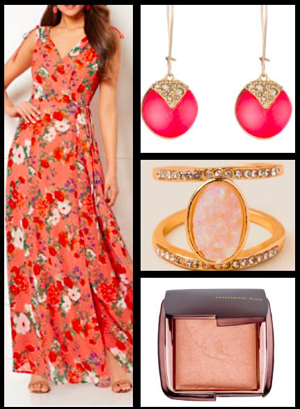 Dress:  $35 / Earrings:  $145 / Ring:  $18 / Highlighter:  $46