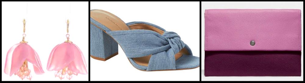 Earrings:  $68  / Shoes:  $89  / Clutch:  $150