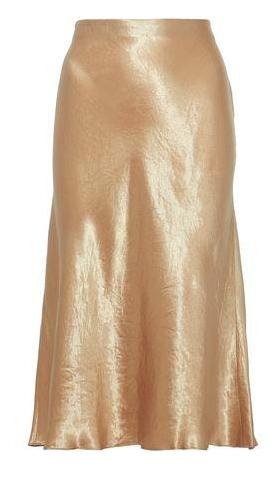 Fluted Satin Skirt