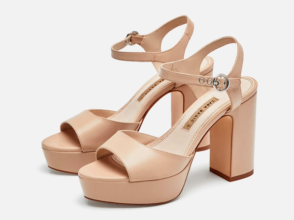 Leather Platform Heels By Zara