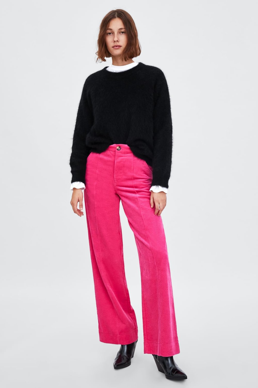 Velveteen Pants By Zara