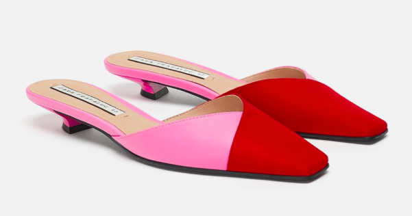 Two Toned Mules By Zara