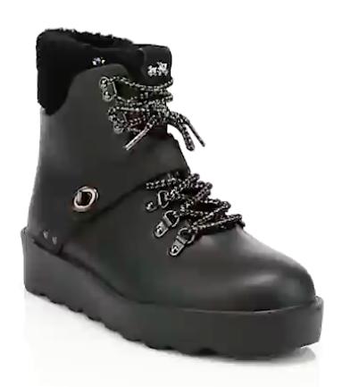 Urban Faux Fur Hiking Boots By Coach