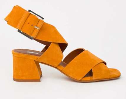 Suede Crossover Sandals