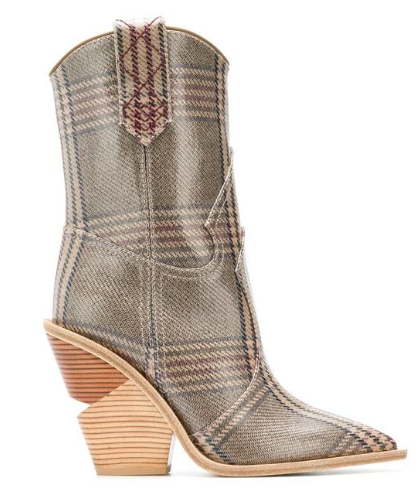 Wendi Check Pattern ankle boots  $1,190