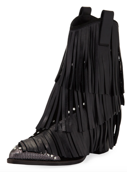 Zadig & Voltaire Carla Plus Fringed Western Boots  $528