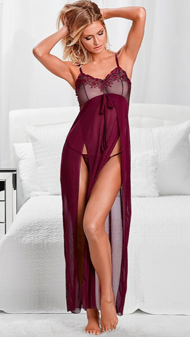 Lace Detail Gown And Panty  $39