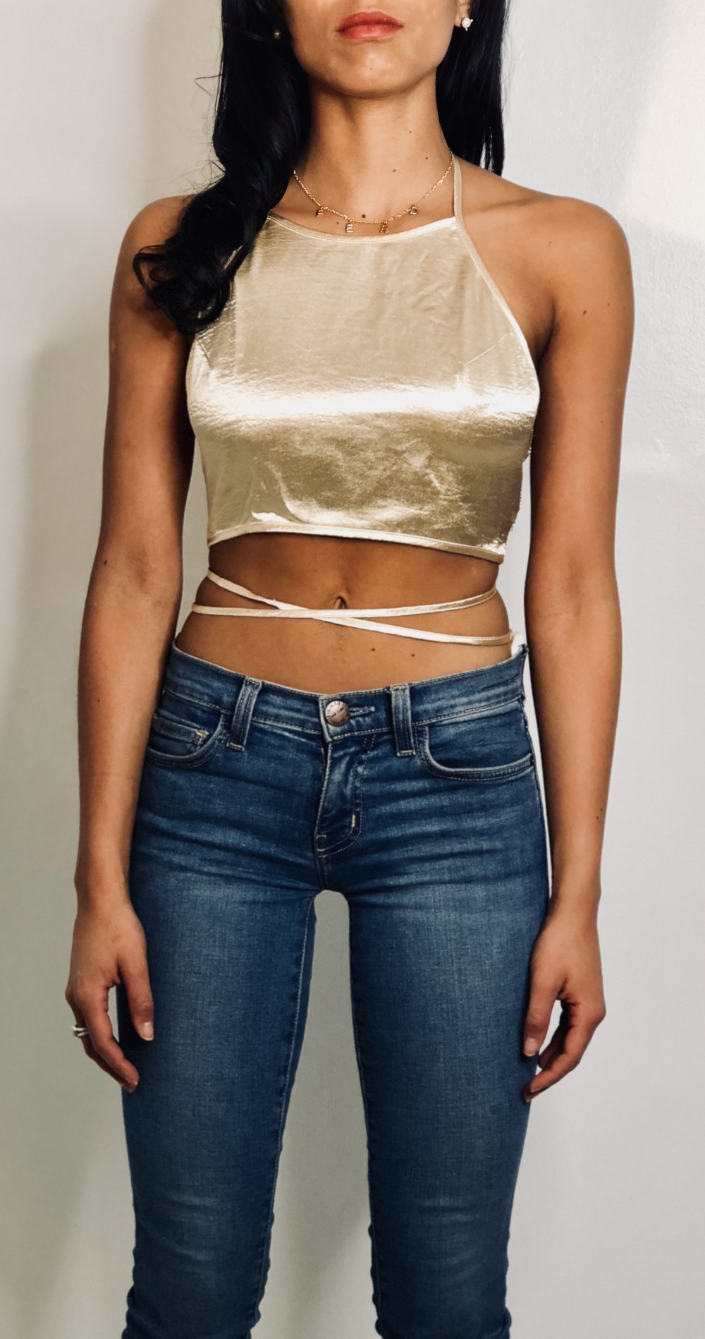 All That Glitters is Gold Halter Top