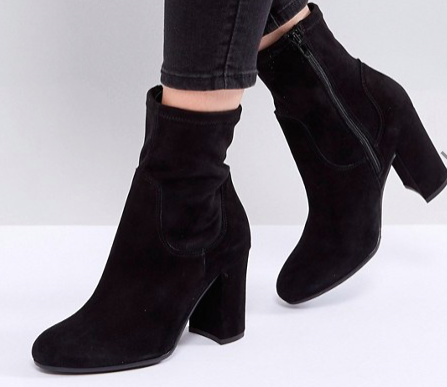 Dune London Oliah Suede Heeled Boots