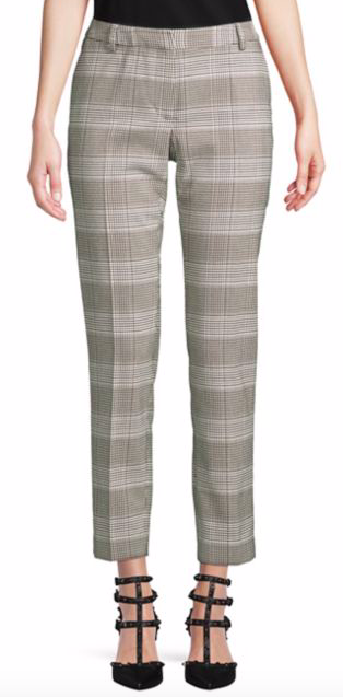 Calvin Klein Herringbone Plaid Trousers