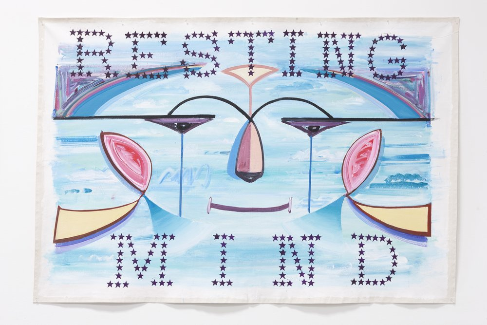 "Resting Mind ,  2011   Acrylic on canvas                                                                                                                                                                          84"" X 66"""