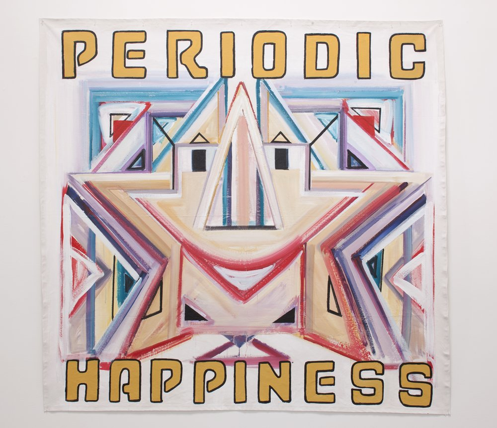 "Periodic Happiness,   2011  Acrylic on canvas                                                                                                                                                                        96"" X 96"""