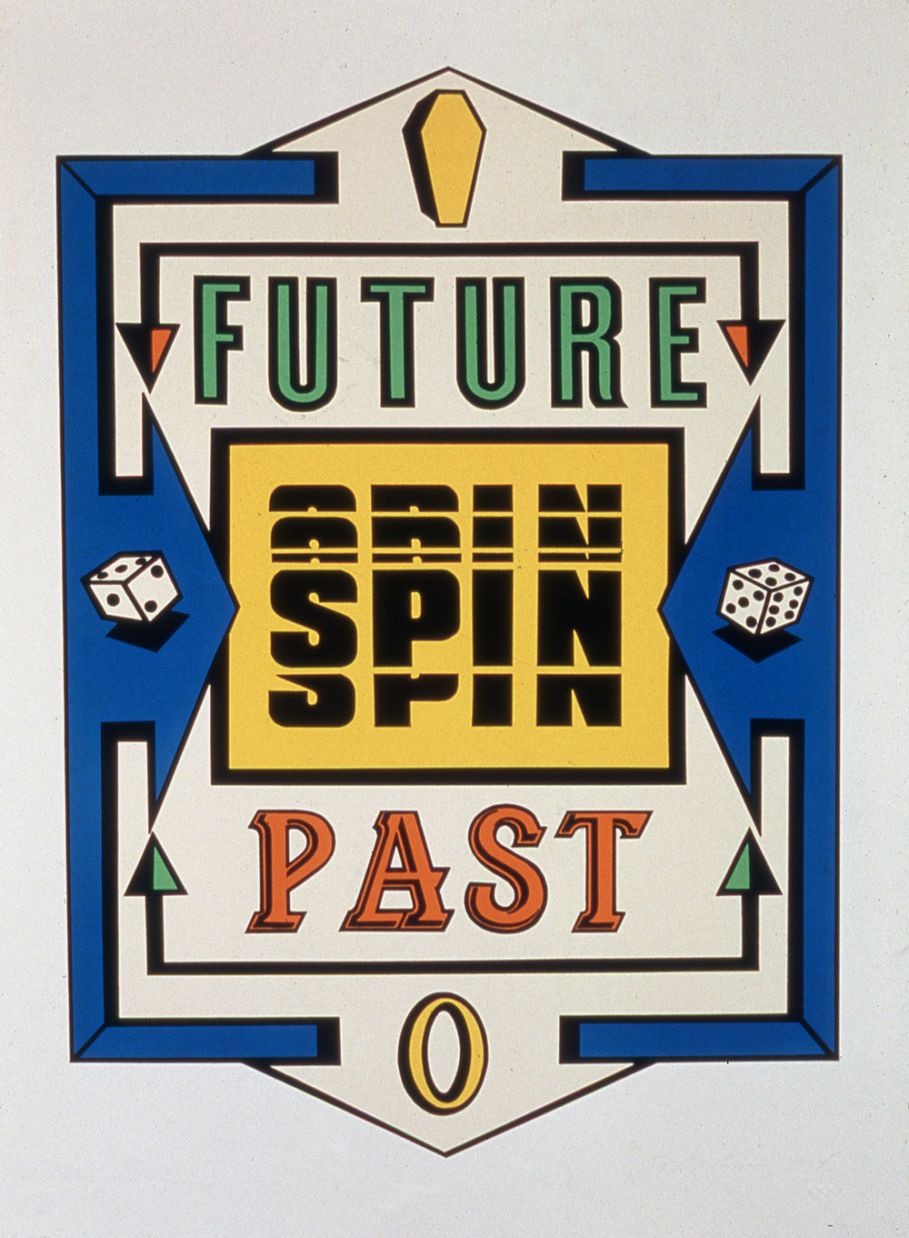 "Spin,  1994  Silkscreen on paper, edition of 15   33"" x 26"""