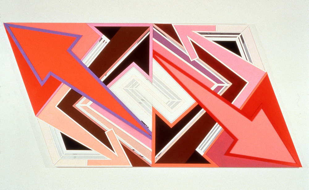 "Mind Weeds,  1997  Acrylic, mirror, plexiglass on bas relief wood  57"" x 112"""