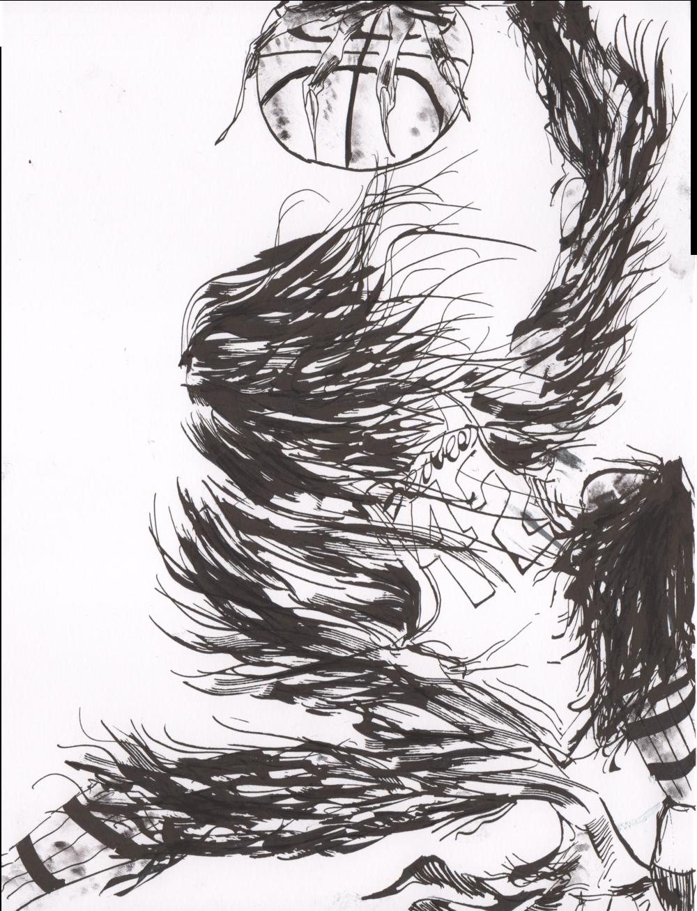 Young Werewolf (b & w)