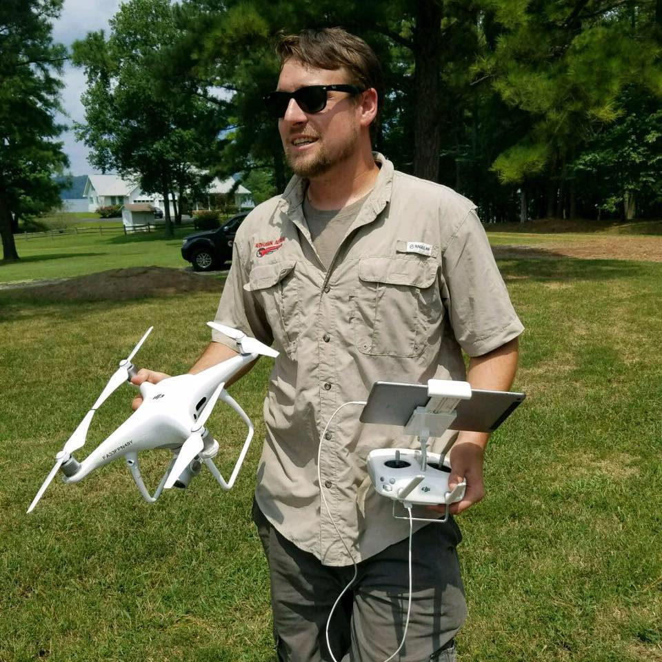 JEFF BENOIT  Jeff is a highly motivated drone operator from Franklin, Arkansas. Coming from a military background of 5 years in the Army, he is a self made businessman helping to form Redhawk Aerial in mid 2016. Jeff has a long history of drone operations having been an operator since 2011.