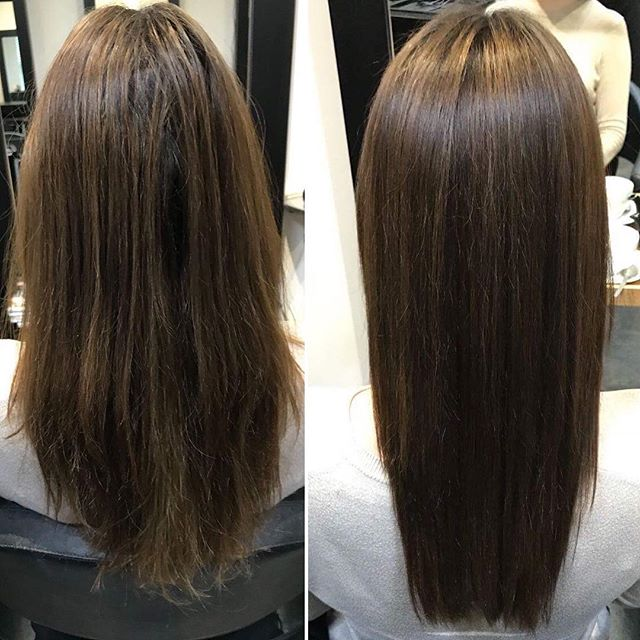 We LOVE this before and after, creating a super sleek and shiny style  #instahair #hairinspo #hairtrends2018 #perfecthair #naturallook #beautylaunchpad #modernsalon #hairdresser #hairinspiration #hairtrend #hairfashion #hairbrained #livedinhair #healthyhair #happyhair #hairstyles #hair #sleek #shiny #healthy #straighthair #ghd #uk #instagood #instagram #instaday #instadaily #instagramer #photooftheday #beforeandafter
