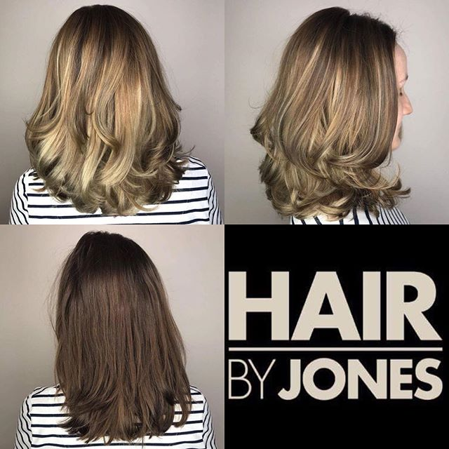 A GORGEOUS balayage and blow out done by our colour expert @natalia_antypa  #hairdressing #hairdresser #colour #balayage #beforeandafter #hairbyjones #hairstyles #hairtrends2018 #hairtransformation #monmouth #localbusiness #hairbrained #blowdry