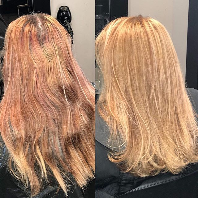 Another GORGEOUS before and after from @hairbyjones  #blonde #dye #hairbrained #hairtrends #blondehair #beforeandafter #transformation #hairstyle #hairdressing #haircut #instagood #photooftheday