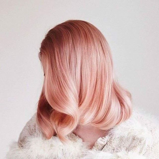Would you rock rose gold hair? #rosegold #rosegoldhair #rosegoldhaircolor #hairstyles #hairbrained #hairdye #dyedhair #haircut #hair #hairdo #hairstylist #haircare #photooftheday #instahair #instagood