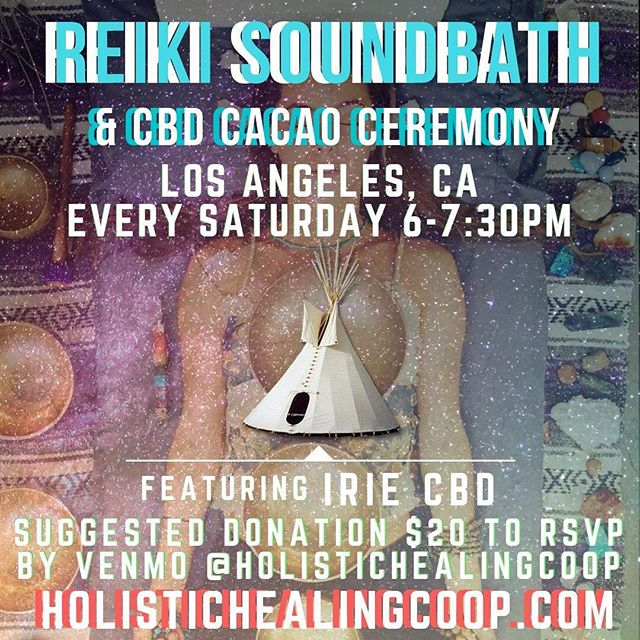 🌈SATURDAYS FROM 6-7:30PM, WE WELCOME YOU TO GATHER TOGETHER FOR AN EVENING FULL OF HEALING VIBRATIONS FROM OUR 70+ HANDMADE TIBETAN AND CRYSTAL SOUND BOWLS. UNWIND AND RELAX INTO THE SOOTHING VIBRATION OF YOUR SPIRIT, GUIDED BY SOUND HEALERS ELOI THEOPHOLUS AND CARLY MARIE. THIS SPECIAL EVENING WILL BEGIN WITH A CBD CACAO CEREMONY FEATURING IRIE CBD.  WHAT TO EXPECT:  REIKI GENTLE YOGA MANTRA CHANTING  ESSENTIAL OILS  SOUND BATH  CBD CACAO CEREMONY  SAVE YOUR SPOT BY REGISTERING THROUGH VENMO AT @HOLISTICHEALINGCOOP SUGGESTED DONATION $20 RSVP FOR THE ADDRESS.  PRIVATE MESSAGE US WITH QUESTIONS, SEND AN EMAIL TO ELOI@HOLISTICHEALINGCOOP.COM OR CALL 310-879-9988  FROM 7-7:30PM WE WILL BE SHOWING PEOPLE HOW TO PLAY THE BOWLS AND YOU WILL HAVE AN OPPORTUNITY TO TRY ALL OF OUR BOWLS OUT.  ABOUT THE TEACHERS  RIO HAYNES @river_sky_sun IS A REIKI MASTER, YOGI, LIFE COACH, SOUND HEALER, TEACHER AND FOUNDER OF HOLISTIC HEALING CO-OP. RIO HAS BEEN A PRACTITIONER OF YOGA AND MEDITATION FOR 20 YEARS. HE OPENED HOLISTIC HEALING CO-OP IN 2016 AND HAS WORKED WITH HUNDREDS OF PATIENTS SINCE.  BRING A YOGA MAT, PILLOW, BLANKET, AND ANYTHING THAT WILL CREATE A MORE COMFORTING EXPERIENCE FOR THIS EVENING'S HEALING JOURNEY.  SAVE YOUR SPOT BY REGISTERING THROUGH VENMO AT @HOLISTICHEALINGCOOP SUGGESTED DONATION $20 RSVP FOR THE ADDRESS.  PRIVATE MESSAGE US WITH QUESTIONS, SEND AN EMAIL TO ELOI@HOLISTICHEALINGCOOP.COM OR CALL 310-879-9988