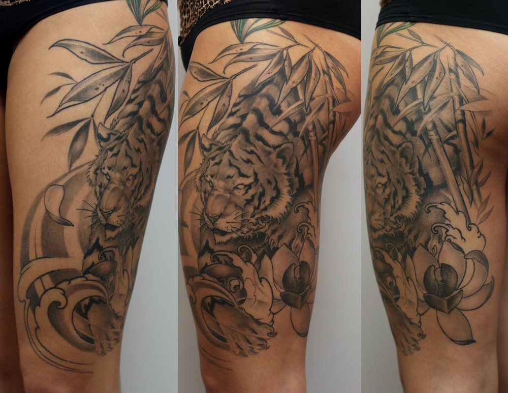 Tiger Bamboo Tattoo Therapy