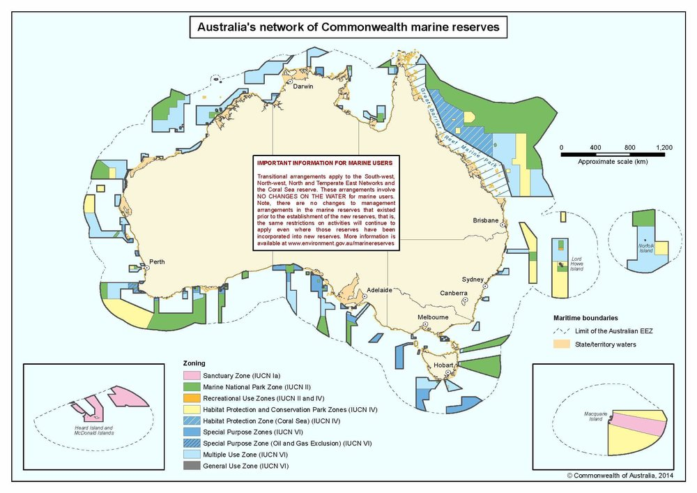 Map of Labor's 2012 Marine Parks. Click on the map for the PDF.