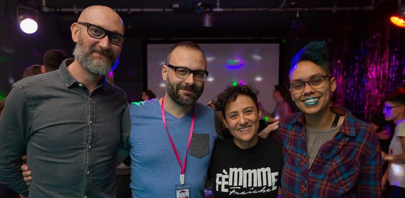 (filmmaker Timothy Smith, Festival director Alexander Karotsch, DJ Sandre Le, and me; photo by  Silvio Balladares Fotografia  )