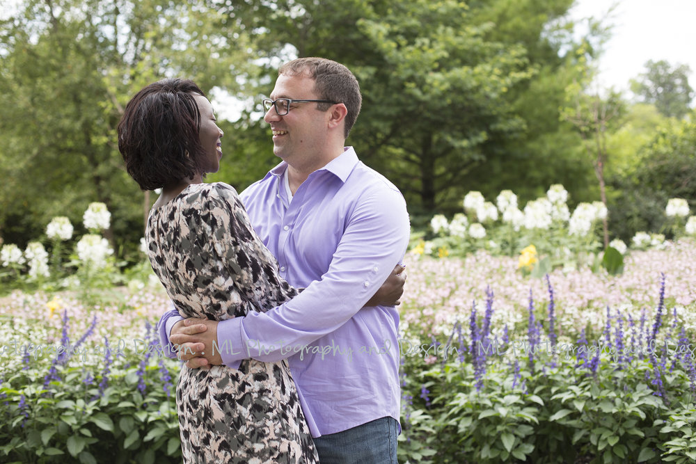 Such a sweet moment in the Boerner Botanical Gardens!