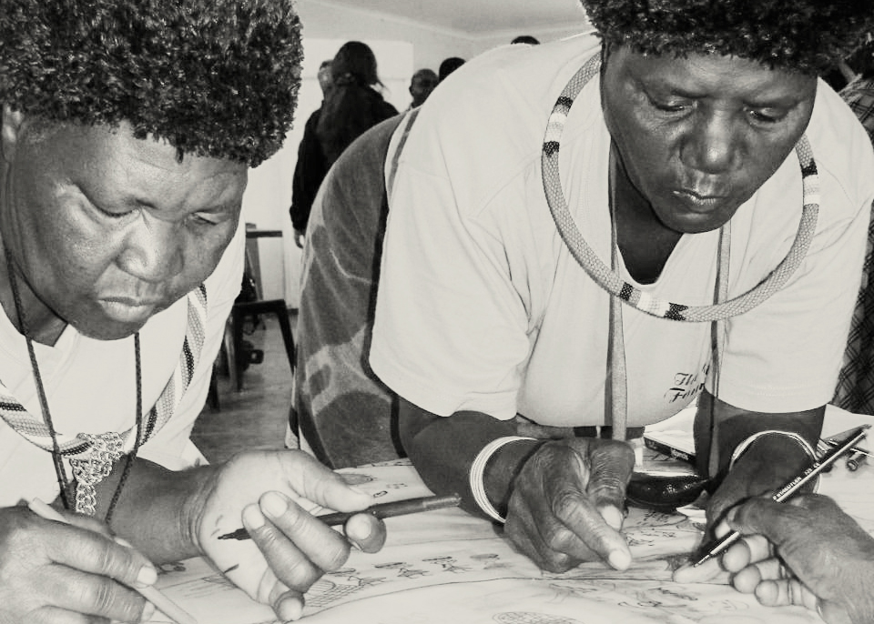 Seed practitioners during eco-cultural mapping workshop, Venda. (Photograph: Juliana Thornton, Mupo Foundation, 2013.)