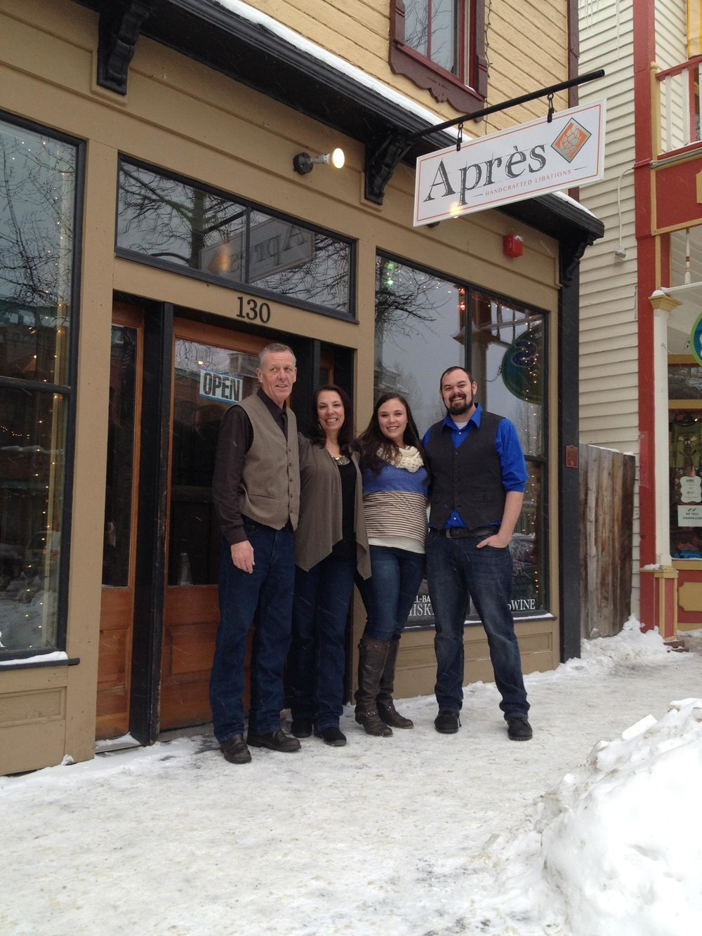 Après Founders from left to right: Bill, Momma Donna, Lauren, & Kyle