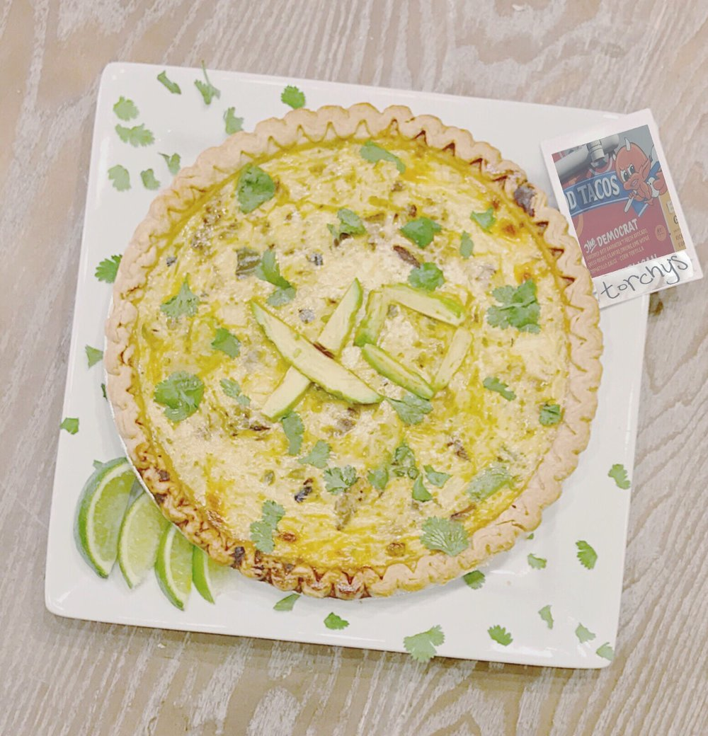 Southwestern Quiche  inspired by Torchy's Democrat Taco