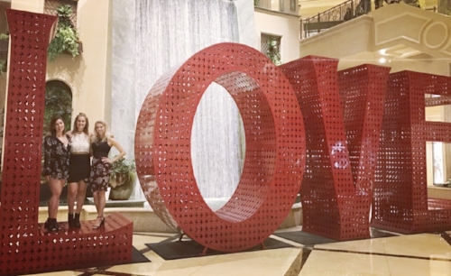 Love Art Installation:  Pop by the Venetian to catch this larger than life, which was previously on display at the Life is Beautiful music festival.