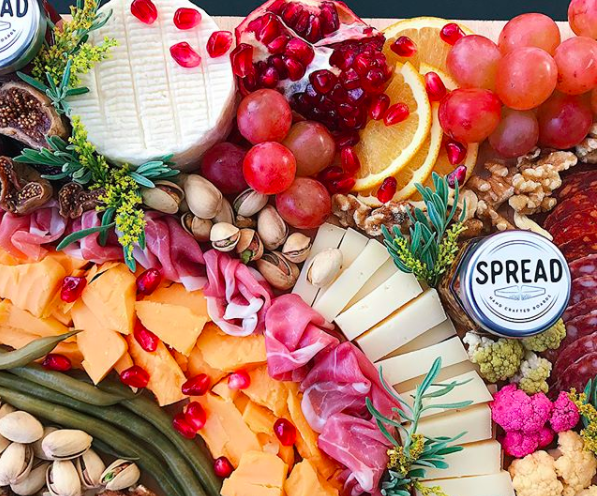 Rosemary Nolan |   @spreadandco   Founder of Spread & Co.: Cheese + charcuterie focused catering business located in ATX-creating artfully designed boards for all occasions + events of every size.  At SPREAD & CO.,all our JAMS / MARMALADES, PICKLES, MUSTARDS + CRACKERS are made from scratch and rotate with the seasons. All other components are American-made and local whenever possible!