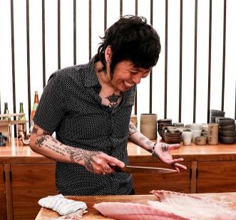Yoshi Okai ,   @yokaiberry  head chef of otoko   p/c: @helloitstello