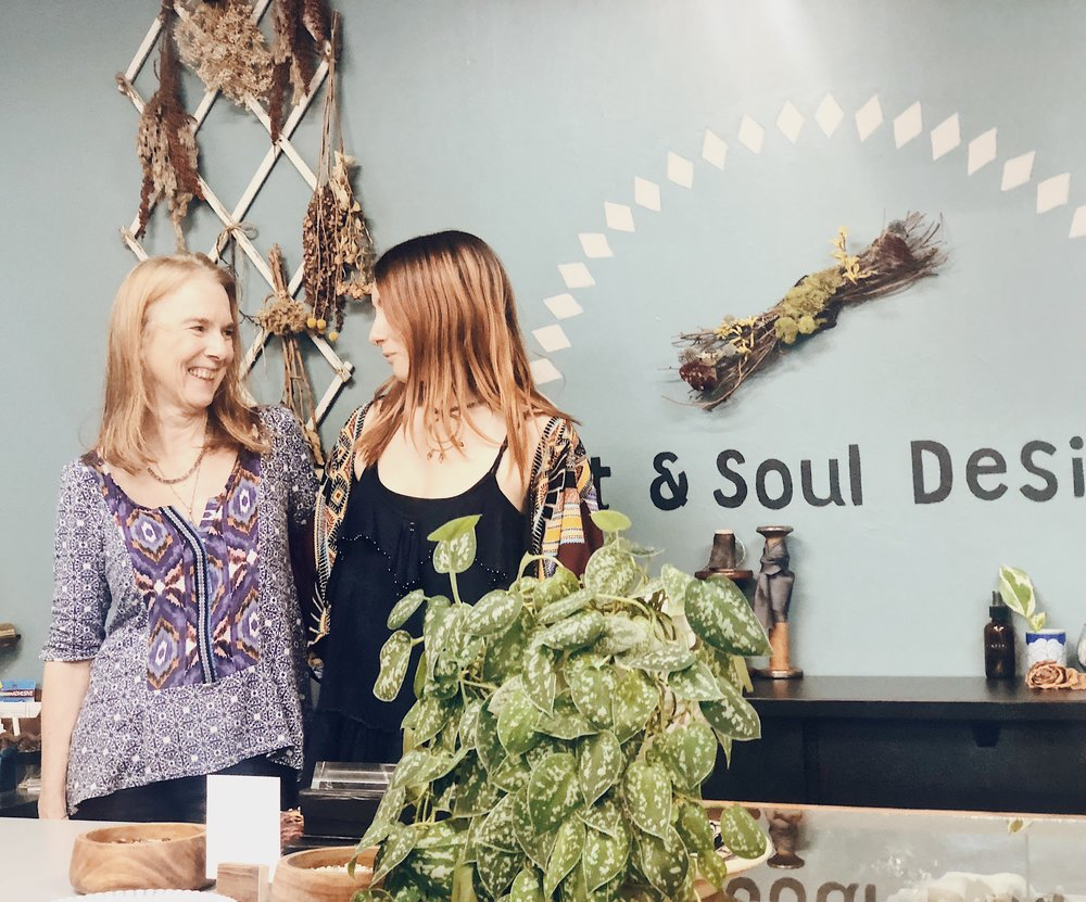 """We want to inspire people to slow their lives down more and literally stop to smell the roses."" Melissa and Carol Hargus of Art & Soul Design"