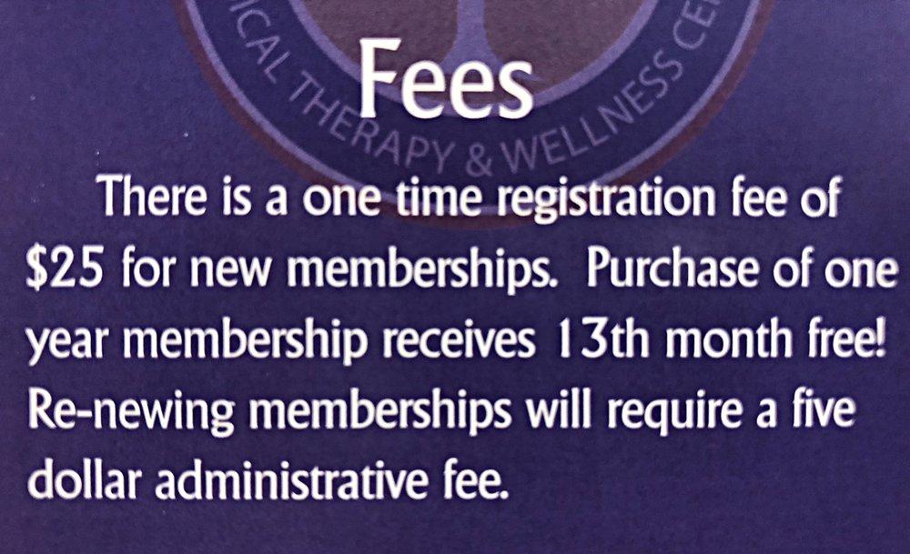 Gym Membership Fees.