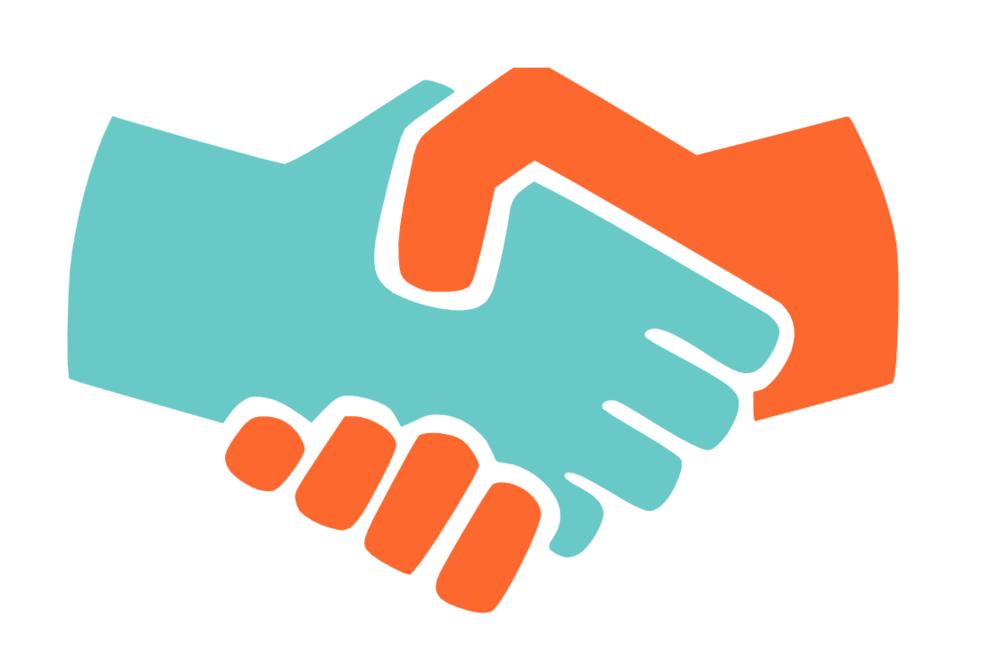 Welcome handshake.
